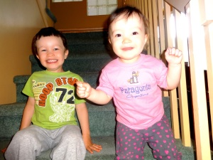 Our munchkins Caleb and Naomi