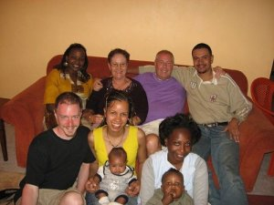 In honor of my Uncle Alan (top second from the right). This picture was taken in Kenya in 2007 when Uncle Alan visited from the UK to celebrate our wedding with us.
