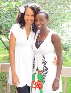 Celebrating friendship: My oldest friend! We've known each other since we were 6 years old and grew up together in Kenya.