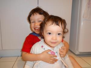 Our precious angels, Caleb and Naomi