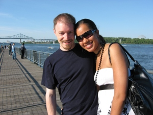 Summer 2008, Old Port, Montréal. Married life before kids!