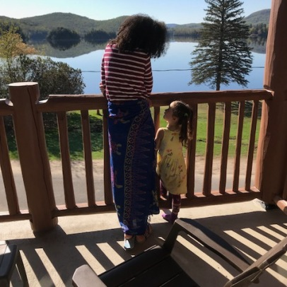 Special mummy-daugher moment...visit to Mont Tremblant