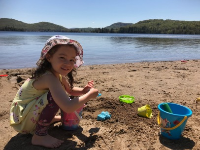 Visit to Mont Tremblant...fun on the beach
