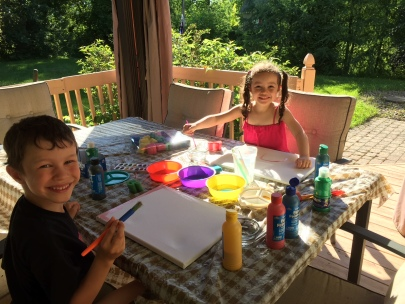 Summer creativity on the deck!