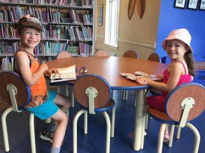 One of their favorite places to be...the library!