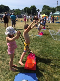 Family fun event in the park